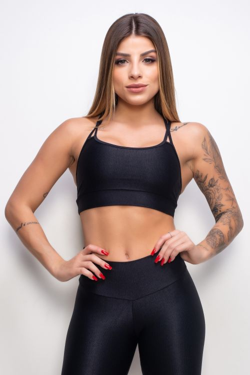 Top Fitness Essence black com tiras