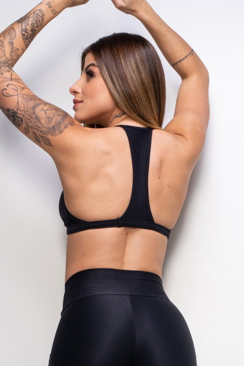 Top Fitness Essence black decotado