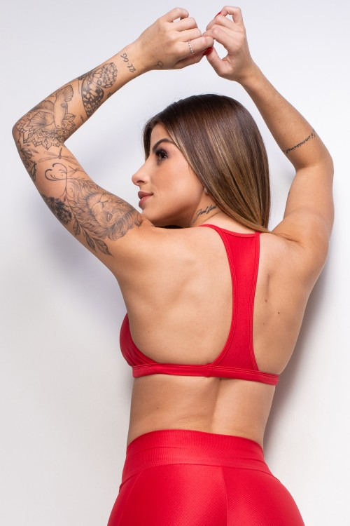 Top Fitness Essence red decotado
