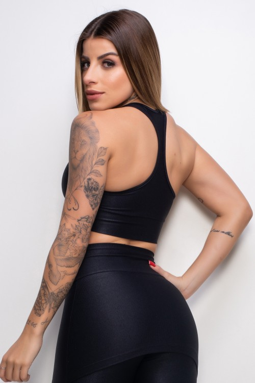 Top Fitness Essence black com bojo removível