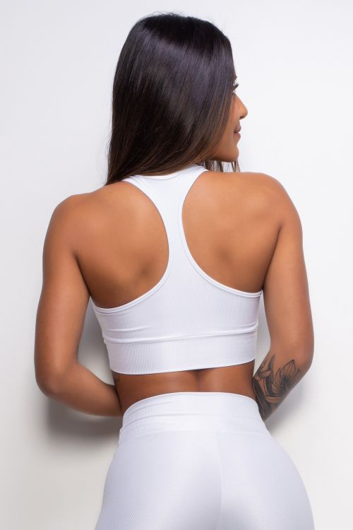 Top Fitness Essence white com bojo removível