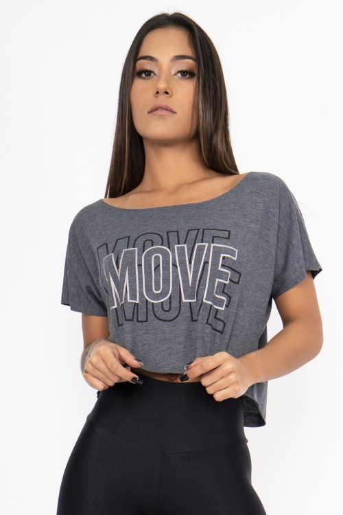 Blusa Fitness Move mescla