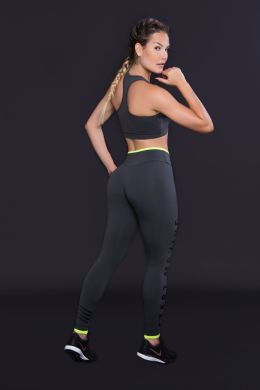 Calça Legging Feminina Cinza Start Moving