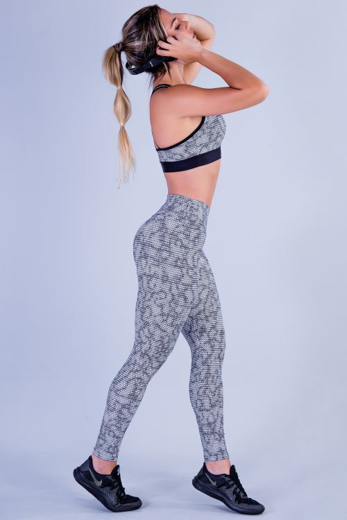 Calça Legging Fitness Feminina Estampada Punch