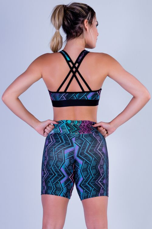 Top Fitness Feminino Estampado Miami