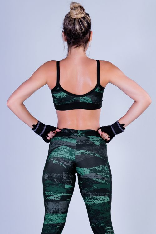 Top Fitness Feminino com Estampa Sublimada Masked