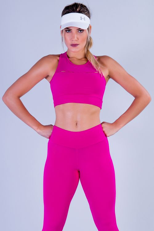 Top Fitness Feminino Rosa Panther
