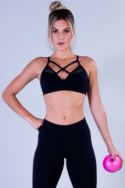 Top Fitness Feminino Preto Slim