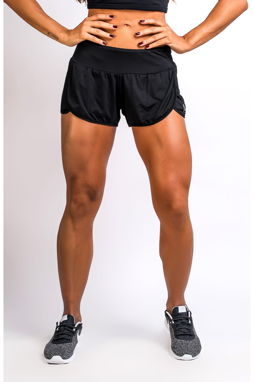 1088b3cb8 Short Fitness Feminino Preto Angê Basic
