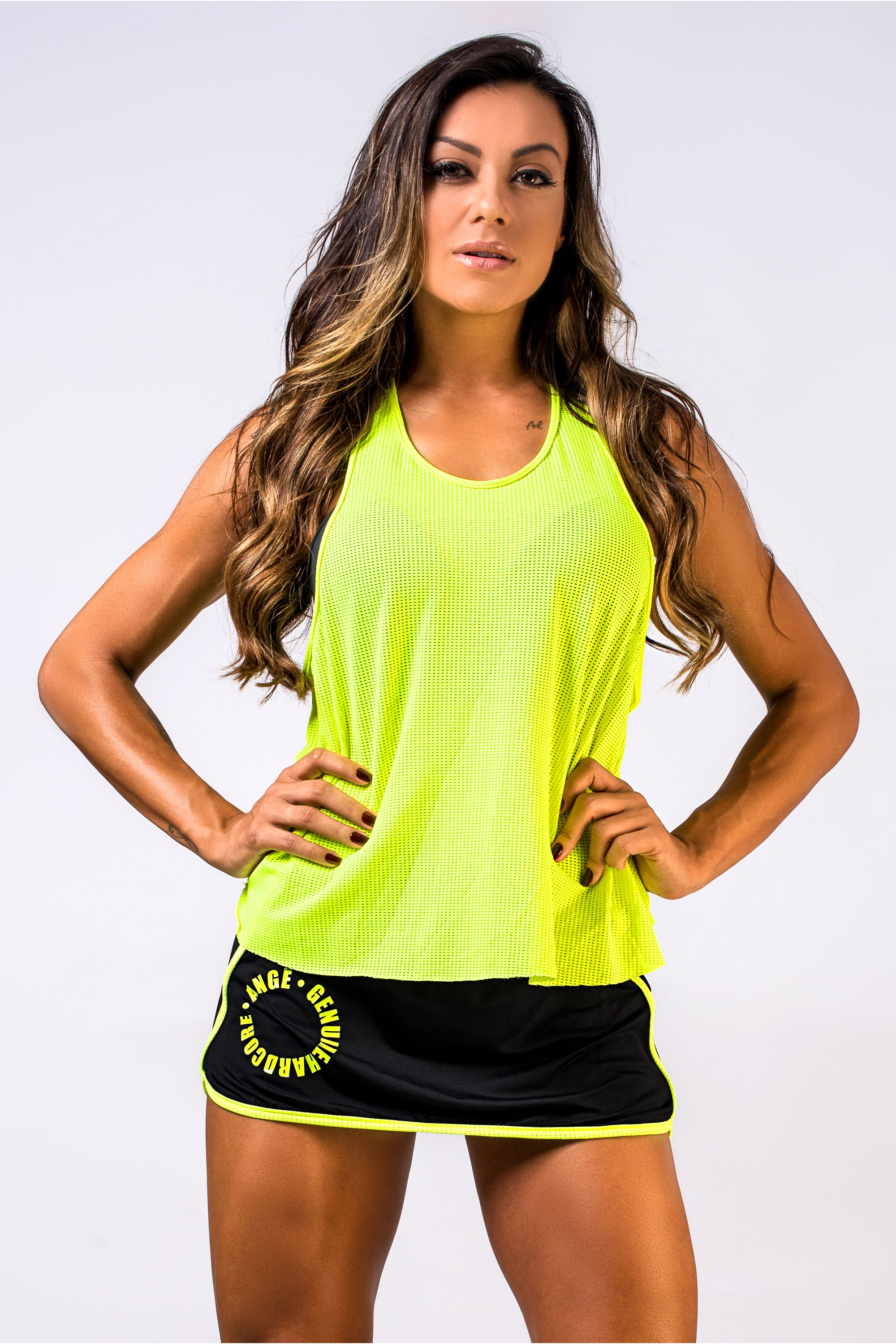 7ceee57bca Regata Fitness Feminina Neon Dry Fit Flash Up