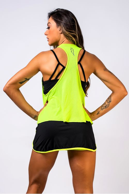 Regata Fitness Feminina Neon Dry Fit Flash Up