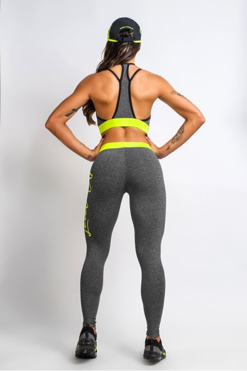 Calça Legging Feminina Mescla e Neon Next Level