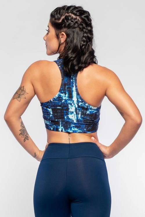 Top Fitness Feminino Estampado Black City
