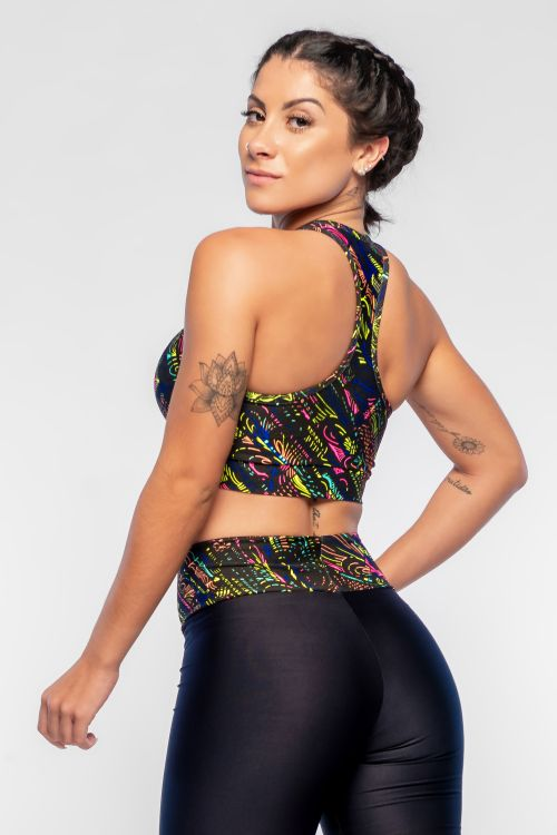 Top Fitness Feminino Color Black