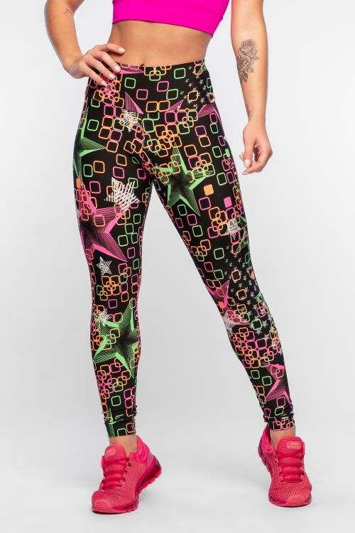 Calça Legging Feminina Estampada Pop Star