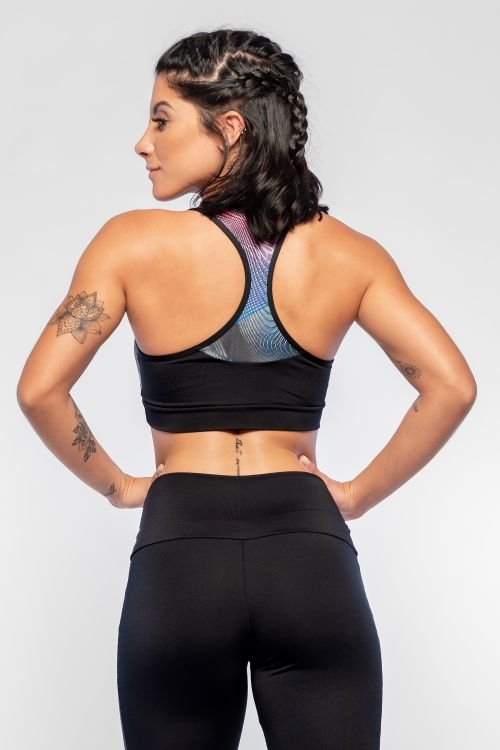 Top Fitness Feminino Neon Waves