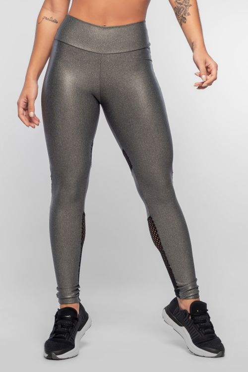 Calça Legging Feminina Mescla com brilho Fit Screen