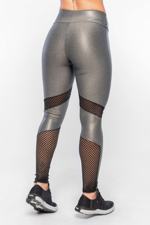 275707bfc Calça Legging Feminina Mescla com brilho Fit Screen