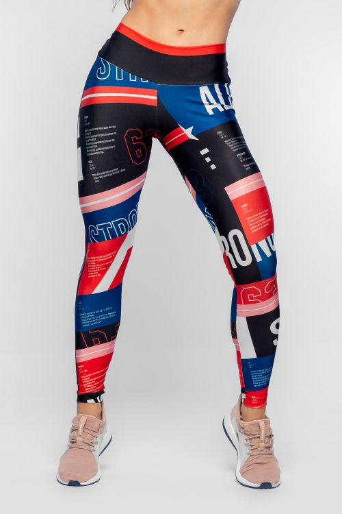Calça Legging Feminina com Estampa Sublimada Strong Nation