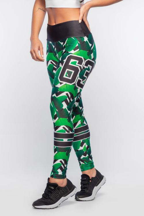 Calça Legging Feminina com Estampa Sublimada Jungle