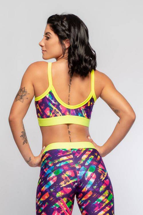 Top Fitness Feminino com Estampa Sublimada Energy