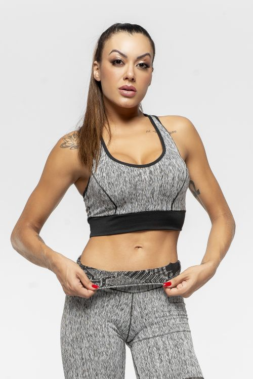 Top Fitness Feminino Dupla Face Inverse Ethnical