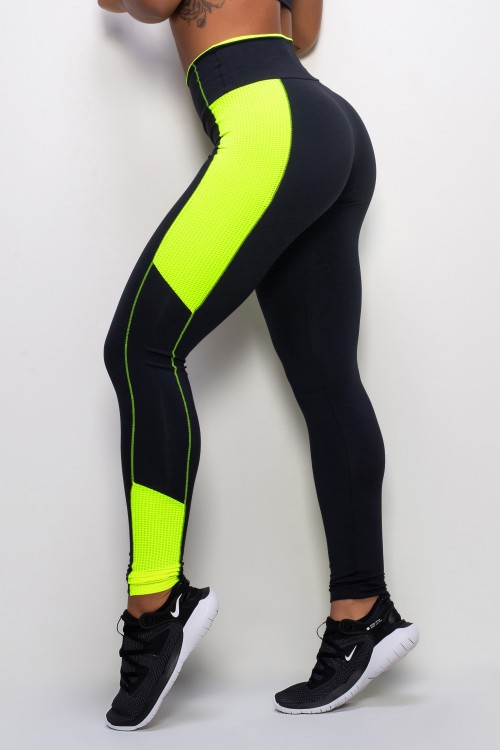 Legging Fitness Feminina Neon Black