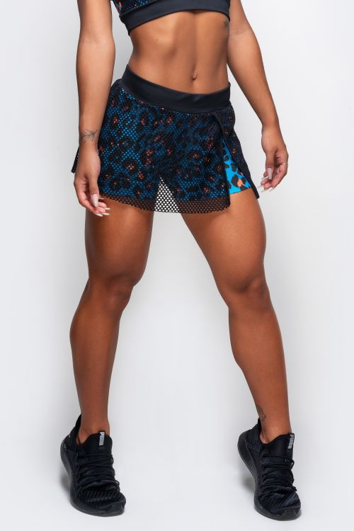 Short Saia Fitness Feminino com Bolso Attractive