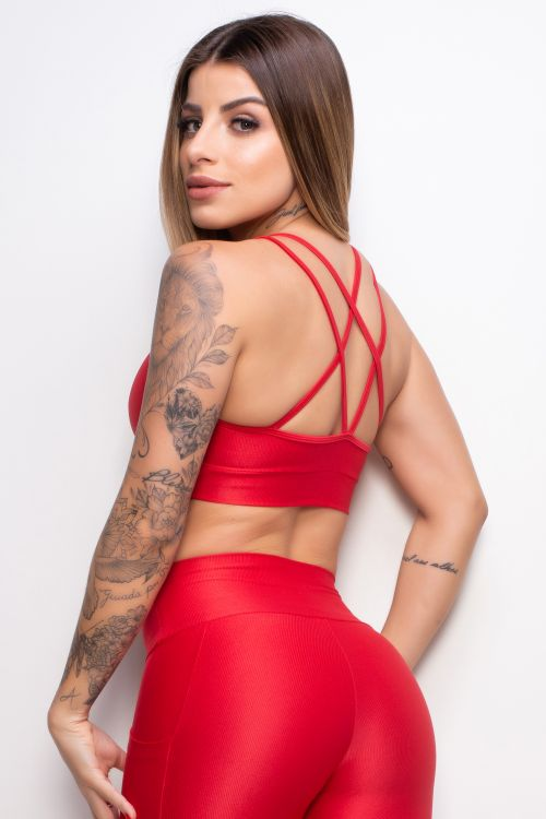 Top Fitness Essence red com tiras